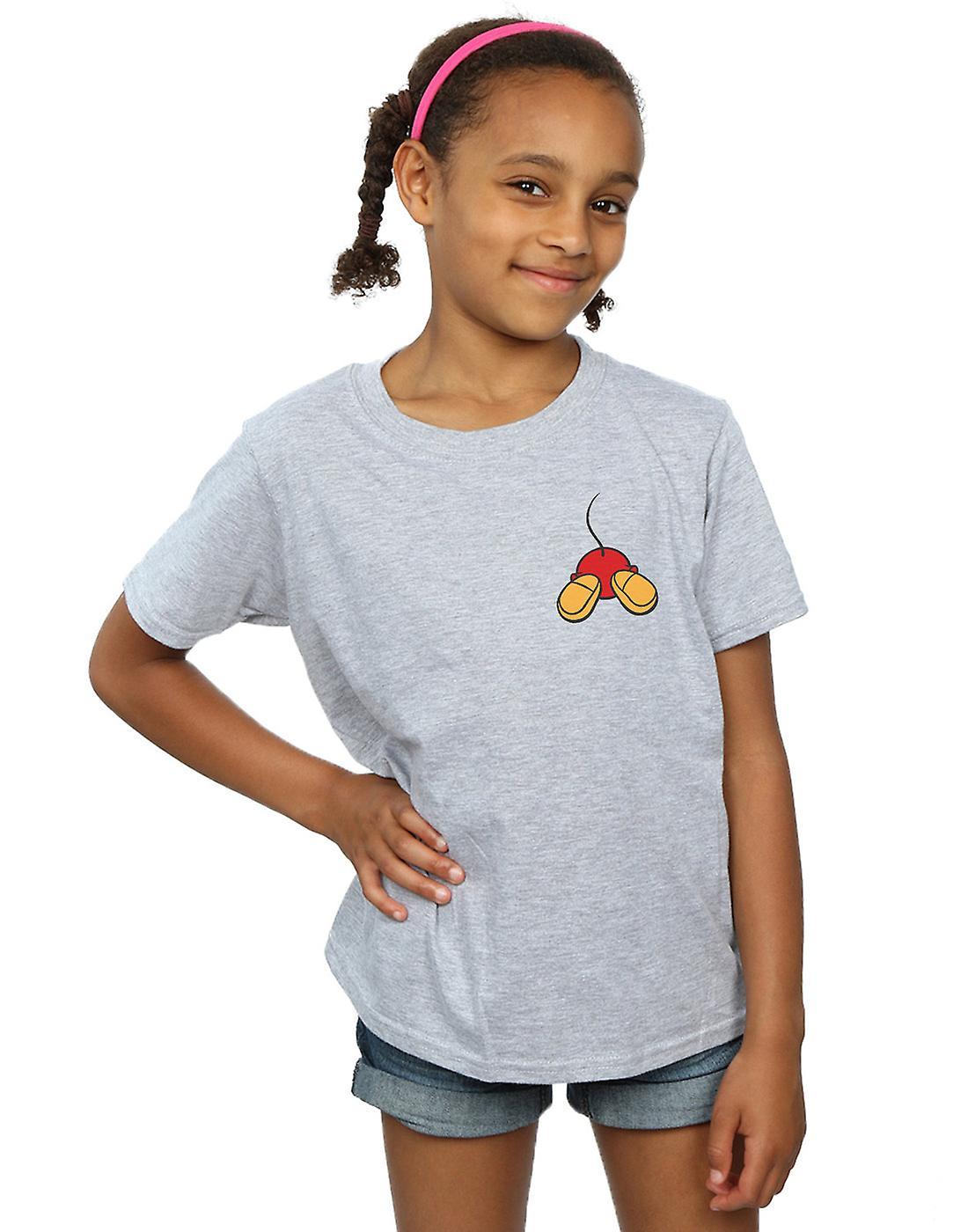 Disney Girls Mickey Mouse Backside Breast Print T-Shirt