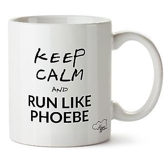Hippowarehouse сохранить спокойствие и запустить как Фиби напечатанные кружка чашка керамическая 10oz