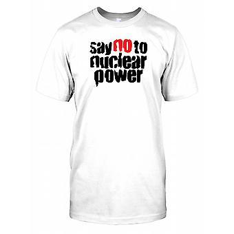 Dites non à l'énergie nucléaire - Conspiracy Mens T Shirt