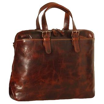 Ashwood nahka Highbury vahattu Vintage Ralph Laptop Bag-Vintage Tan