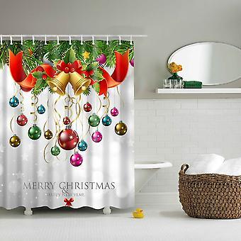 Douche gordijn-kerstballen
