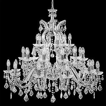 Marie Therese Chrome 30 lys lysekrone med krystal dekoration - projektør 3314-30