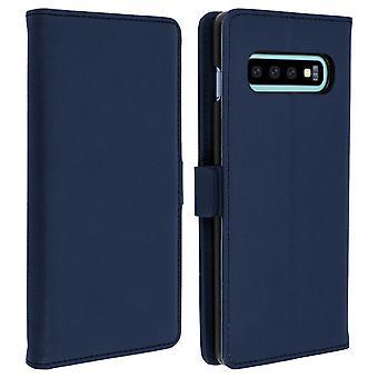 Samsung Galaxy S10 Case Wallet Stand Support DZgogo - Dark Blue