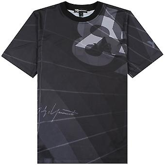 Y-3 Mesh Graphic Logo T-shirt Black