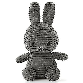 Miffy Bunny Corduroy Soft Toy, Grey