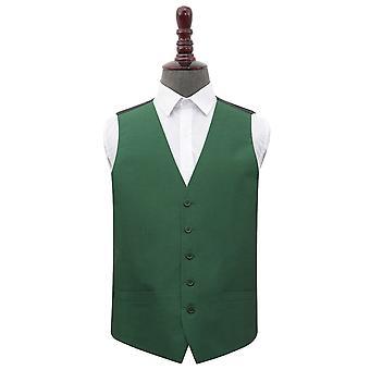 Smaragdgrön Plain shantung bröllop väst