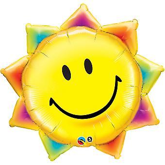 Qualatex 35 Inch Sunshine Smiley gezicht Design folie ballon