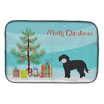 Carolines Treasures  CK3881DDM Whoodle #2 Christmas Tree Dish Drying Mat