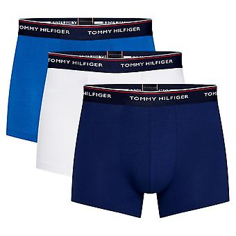 Tommy Hilfiger Premium Essentials Stretch Trunk 3 Pack - Blue Depths/Lapis Blue/White