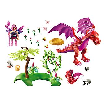 Playmobil 9134 Fairies Friendly Dragon With Baby Playset