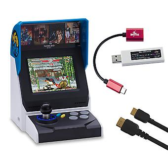 Neogeo mini console bundel (inclusief neogeo mini + HDMI kabel + mayflash controller Adapter + 40 Classic neogeo games)