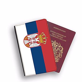 SERBIA Flag Passport Holder Style Case Cover Protective Wallet Flags design