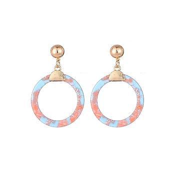 Jewelcity Sunkissed Womens/dames cirkel hars oorbellen