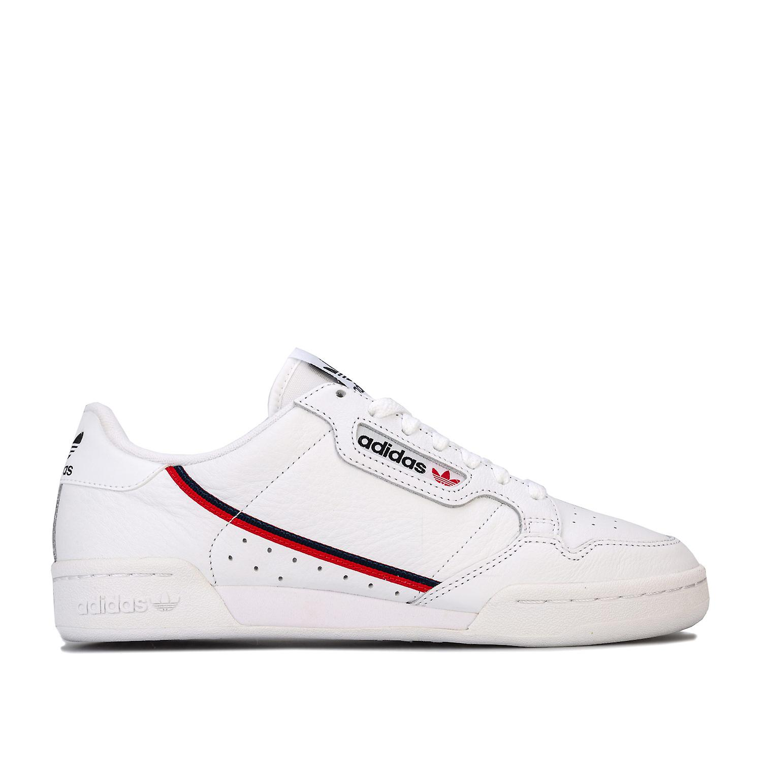 Herren adidas Originals Continental 80 Trainer In weiß blau