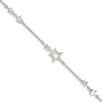 925 Sterling hopea kiillotettu Fancy Hummeri sulkeminen Star Rannekoru 7,5 tuuman korut lahjat naisille