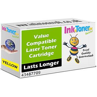 Gele tonercartridge met compatibele Oki 43487709 (43487709)