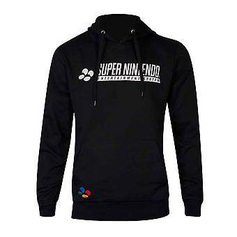 Nintendo Hoodie SNES Controller new Official Mens Black Pullover