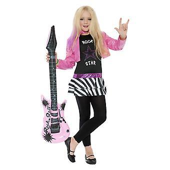 Mädchen-Rockstar Glam-Kostüm