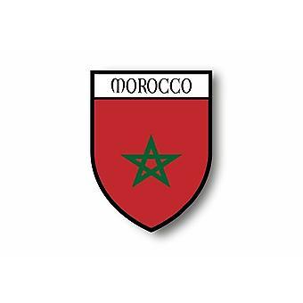 Autocollant Sticker Voiture Moto Blason Ville Drapeau Maroc Marocain