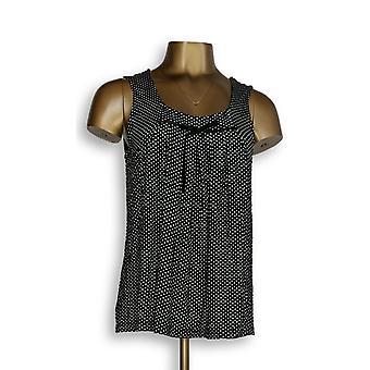 North Style Women's Top Polka Dot Printed Tank Black