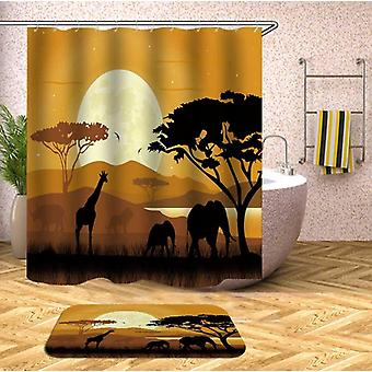 The African View Shower Curtain
