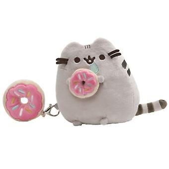 Gund Pusheen with Donut Giftset (Plush & Keychain)