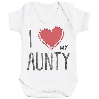 I Love My Aunty Red Heart Baby Bodysuit