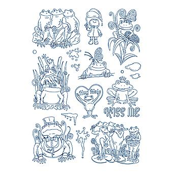 Tattered Lace Froggy Friends Stamp Set