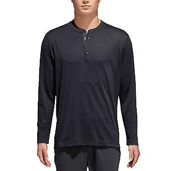 adidas Golf Herren No-Show Range Henley UPF 30 Schnelltrockner Pullover