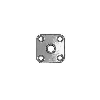 Bevestigingsplaat 4,7 x 4,7 cm M10 (zakje 4 stuks) (1 stuk)