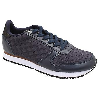 Woden Ydun Nsc Navy Woven Lace Up Trainer