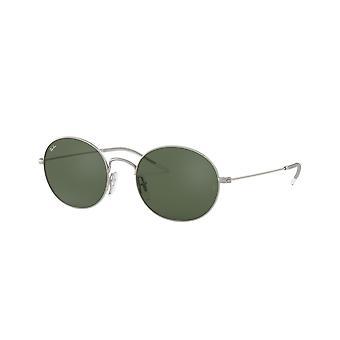 Ray-Ban RB3594 911671 Rubber Silver/Dark Green Sunglasses