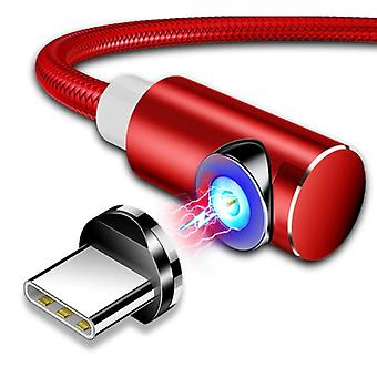 INIU USB 2.0 - Micro-USB Magnetic Charging Cable 2 Meters Braided Nylon Charger Data Cable Data Android Red