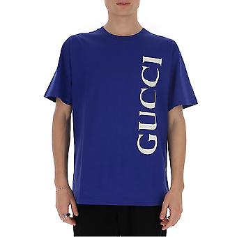 Gucci 565806xjb2v4118 Män's Blue Cotton T-shirt