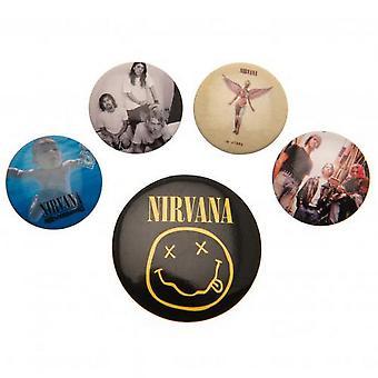 Nirvana Button Badge Set (6 Pieces)