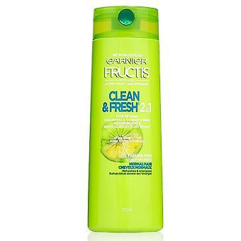 Garnier fructis soins quotidiens 2 en 1 shampooing fortifiant et revitalisant, 12,5 oz