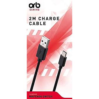 ORB 2 Metre Charge Cable Compatible With Nintendo Switch