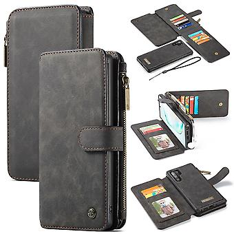 For Samsung Galaxy Note 10+ Plus Case, Wallet PU Leather Flip Cover, Black