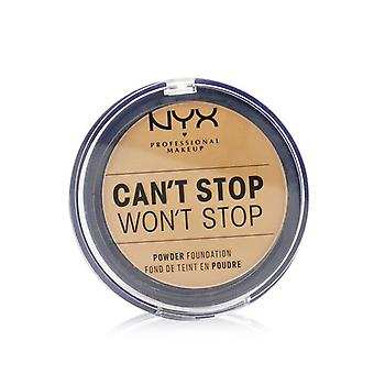 NYX Can't Stop Won't Stop Powder Foundation - # Golden Honey 10.7g/0.37oz
