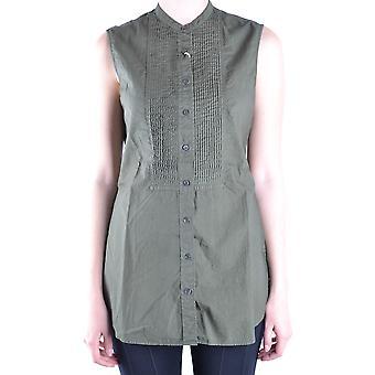 Aspesi Ezbc0671017 Women's Green Cotton Top