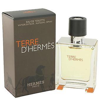 Terre d'hermes eau de toilette spray by hermes 427031 50 ml