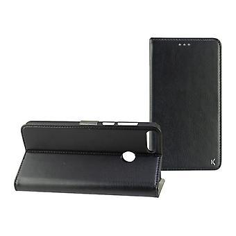 Folio matkapuhelin tapauksessa Huawei Y9 2018 KSIX Musta