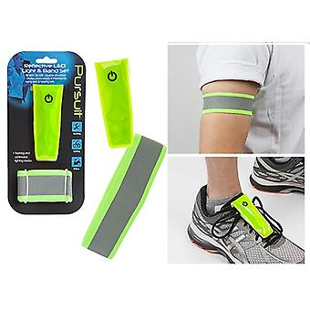Summit Pursuit reflektierende LED Licht & Band Set | Laufen Joggen Radfahren Walking Walking