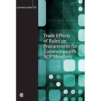 Trade Effects of Rules on Procurement for Commonwealth ACP Members by