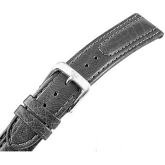Watch strap watch strap men's leather black U.-Bracelet Men 22 mm