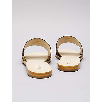 Brand - find. Women's Simple Slide Leather Sandal, Leopard, US 9.5