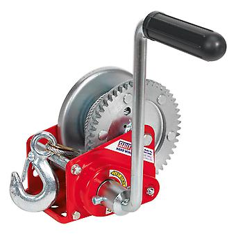 Sealey Gwc1200B Geared Hand Winch With Brake And Cable 540Kg Capacity