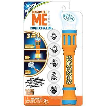 3i1 Minions Despicable Me Project-A-Lite Lamp Mini met Projector Lantern