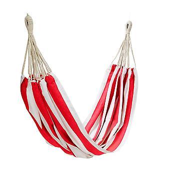 Outdoor Stripe Hammock 150x205cm Red