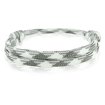 Skipper armbånd surfer band node maritimes armbånd nylon hvid/grå 6918
